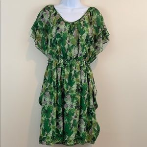 Julian Taylor Cap Sleeve Floral Dress  Size 10